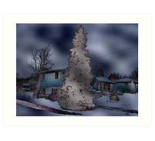 Brown Glowing Tree Art Print
