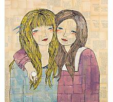 Two Best Friends Portrait Photographic Print