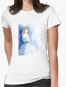 A Blue Breath Of Winter Womens Fitted T-Shirt