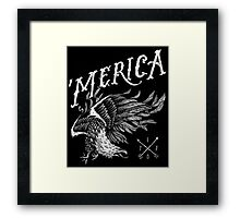'Merica Eagle Framed Print