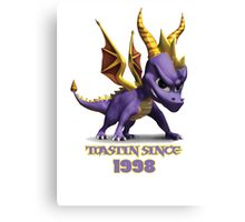 Spyro The Dragon Toastin' Canvas Print