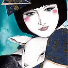 Portrait of a japanese inspired woman by Ali J