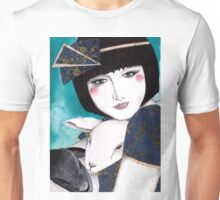 Portrait of a japanese inspired woman Unisex T-Shirt