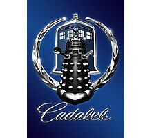 Cadalek in Tardis Blue Photographic Print