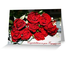 Bunch of Red Roses Engagement Card Greeting Card