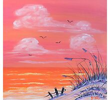 """Beach-Orange"" Photographic Print"