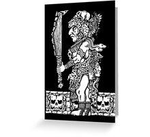 Mayan Jaguar God Greeting Card