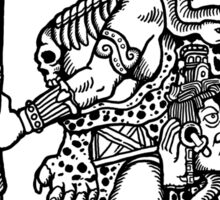 Mayan Jaguar God Sticker