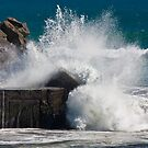 Wave Splash at Blaketown Tiphead NZ by Mike Johnson