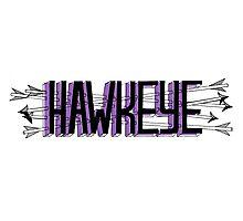 hawkeye (gosh i love arrows) Photographic Print