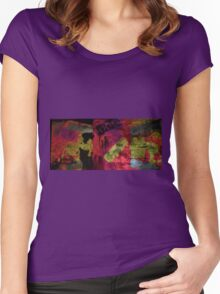 Blockhead light art Women's Fitted Scoop T-Shirt