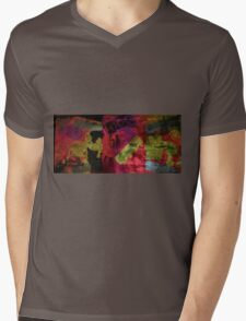 Blockhead light art Mens V-Neck T-Shirt