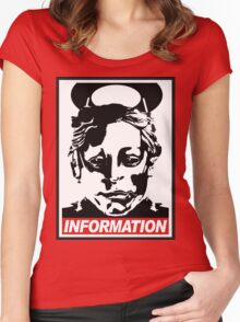 """Heavenly Host """"Information!"""" Women's Fitted Scoop T-Shirt"""