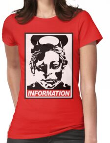 "Heavenly Host ""Information!"" Womens Fitted T-Shirt"