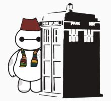 Baymax in the Tardis by Rebecca Wakefield