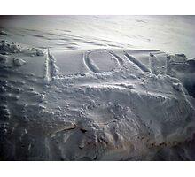love on snow Photographic Print