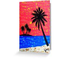 """Island Seascape-Coral"" Greeting Card"