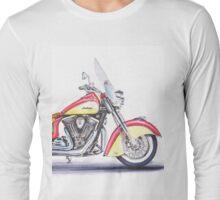Indian Motorcycle Drawing Long Sleeve T-Shirt