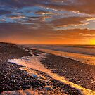 Karoro Beach Sunset, West Coast, NZ by Mike Johnson