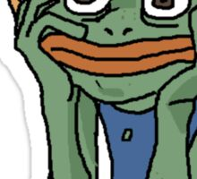 Stress Pepe Sticker