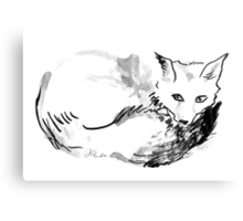 Inky Fox Canvas Print