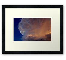 A CLOUD LIT WITH A BILLION CANDLES Framed Print