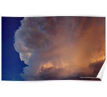 A CLOUD LIT WITH A BILLION CANDLES Poster