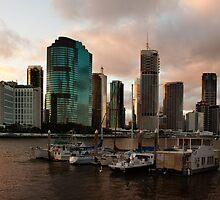 Brisbane Sunset by Helen Martikainen