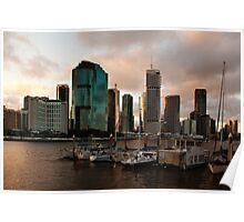 Brisbane Sunset Poster