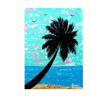"""Island Seascape-Blue"" Art Print"