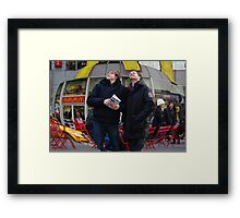 Tourists Framed Print