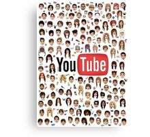 YouTubers Canvas Print