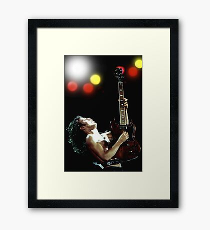 Angus Young AC/DC - 53 Framed Print