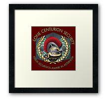 Lone Centurion Security Framed Print