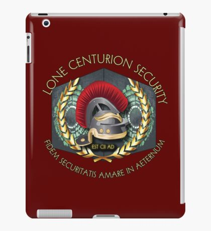 Lone Centurion Security iPad Case/Skin