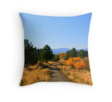 """Trailside Pond"" Throw Pillow"