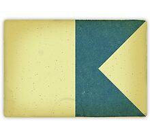 Vintage Nautical Flag Print by homework