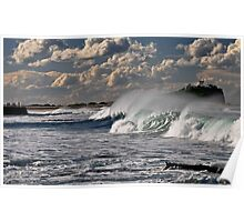 Wave action, Nobby's Beach Poster