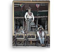 Storefront Cowboys Canvas Print