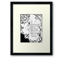 a beautiful manuscript Framed Print