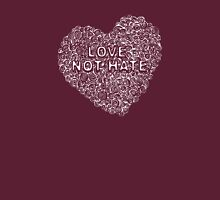 Circles in my heart - love not hate Womens Fitted T-Shirt