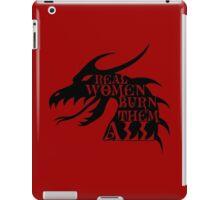 Real Women Burn Them All iPad Case/Skin