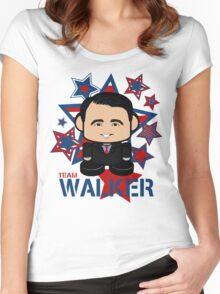 Team Walker Politico'bot Toy Robot Women's Fitted Scoop T-Shirt