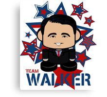 Team Walker Politico'bot Toy Robot Canvas Print