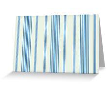 Blue vertical retro stripes Greeting Card