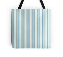 Blue vertical retro stripes Tote Bag