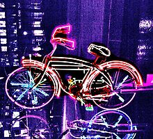 Neon Bicycle Take Two by Lorraine Bratis