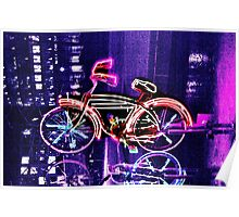 Neon Bicycle Take Two Poster