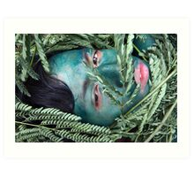 Green Face For Green Earth Art Print
