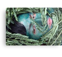 Green Face For Green Earth Metal Print
